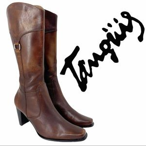 Tanguis Leather Heeled Boots